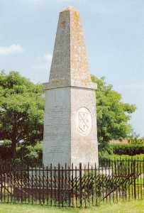 The Hampden Monument at Chalgrove, marking the site of the battle