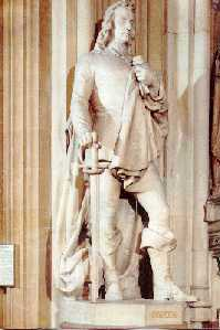 The impressive statue of Hampden in the Central Lobby of the House of Commons