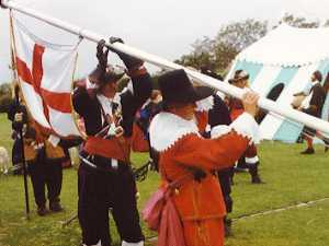 Raising the Royal Standard at Nottingham Castle - August 1642