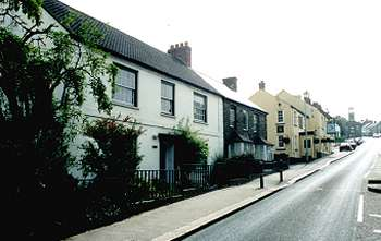 Grampound, with Trevail, the house where Hampden stayed, on the left